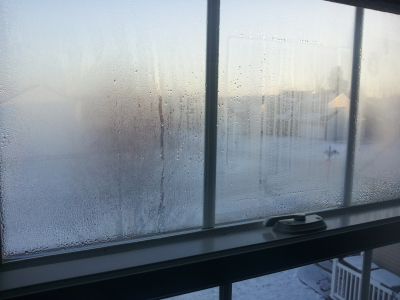 Condensation on UPVC Window